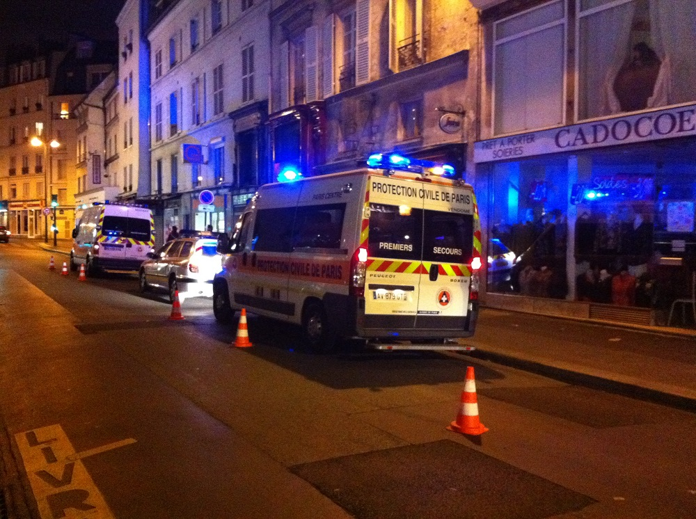 Intervention de nuit avec la Protection Civile de Paris